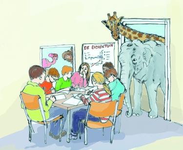 Educatief dierenspel